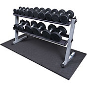 Body Solid GDR60 Premium Rubber Dumbbell Rack and Set