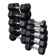 Body Solid Rubber Hex 5-50 lb Dumbbell Set