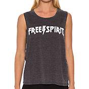 Betsey Johnson Performance Women's Free Spirit Acid Wash Muscle Tank Top