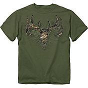 Buck Wear Men's Camo Rip Skull T-Shirt