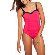 CALIA by Carrie Underwood Women's Ruched Solid Swimsuit