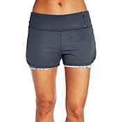CALIA by Carrie Underwood Women's Two-In-One Mesh Printed Shorts