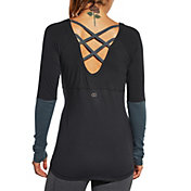 CALIA by Carrie Underwood Women's Cross Back Long Sleeve Shirt