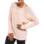 CALIA by Carrie Underwood Women's Mixed Stitch Dolman Sweater