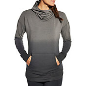 CALIA by Carrie Underwood Women's French Terry Heather Dip Dye Graphic Hoodie