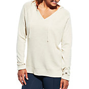 CALIA by Carrie Underwood Women's Heather Effortless Ribbed Hoodie
