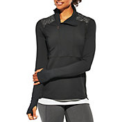 CALIA by Carrie Underwood Women's Journey Reflective Half Zip Running Long Sleeve Shirt