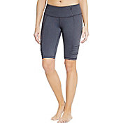 CALIA by Carrie Underwood Women's Essential Ruched Heathered Bermuda Shorts