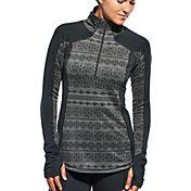 CALIA by Carrie Underwood Women's Plus Size Warm Printed Quarter Zip Long Sleeve Shirt