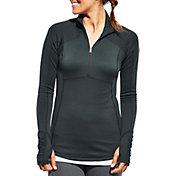 CALIA by Carrie Underwood Women's Plus Size Warm Quarter Zip Long Sleeve Shirt