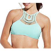 CALIA by Carrie Underwood Women's High Neck Crochet Bikini Top