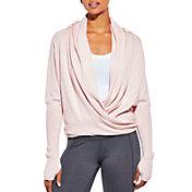 CALIA by Carrie Underwood Women's Effortless Ballet Heather Wrap Sweater
