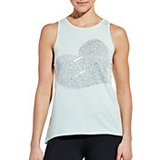 CALIA by Carrie Underwood Women's Flow Loop Back Heart Graphic Tank Top