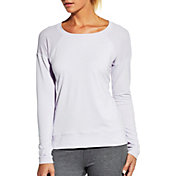 CALIA by Carrie Underwood Women's Plus Size Mesh Panel Long Sleeve Shirt