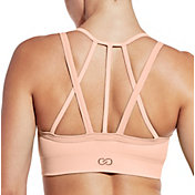 CALIA by Carrie Underwood Women's Inner Power Strappy Halter Seamless Sports Bra