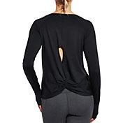 CALIA by Carrie Underwood Women's Twist Back Crewneck Long Sleeve Shirt
