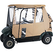 Classic Accessories Fairway Deluxe Short Golf Cart Enclosure – Sand