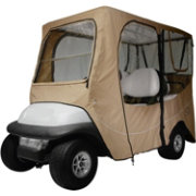 Classic Accessories Fairway Deluxe Long Golf Cart Enclosure – Khaki