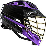 Cascade Custom R Carbon Fiber Lacrosse Helmet w/ Gold Tungsten Mask