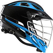 Cascade Custom R Carbon Fiber Lacrosse Helmet w/ White Pearl Mask
