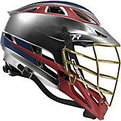 Cascade Custom R Platinum Lacrosse Helmet w/ Gold Tungsten Mask