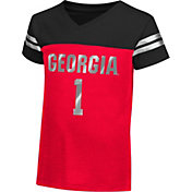 Colosseum Athletics Toddler Girls' Georgia Bulldogs Red Nickel T-Shirt