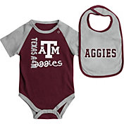 Colosseum Athletics Infant Texas AM Aggies Maroon/Grey Rookie Onesie and Bib Set