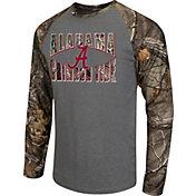Colosseum Athletics Men's Alabama Crimson Tide Grey/Camo Break Action Long Sleeve Shirt