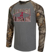 Colosseum Athletics Men's Alabama Crimson Tide Grey/Camo Break Action Long Sleeve Shirt