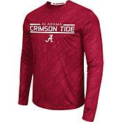 Colosseum Athletics Men's Alabama Crimson Tide Crimson Sleet Long Sleeve Performance Shirt