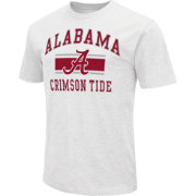 Colosseum Men's Alabama Crimson Tide White Dual-Blend T-Shirt