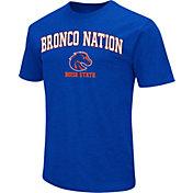 Colosseum Men's Boise State Broncos Blue Team Slogan T-Shirt
