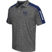 Chiliwear Men's Brigham Young Cougars Grey Birdie Polo