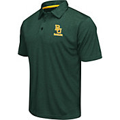 Colosseum Men's Baylor Bears Green Heathered Performance Polo