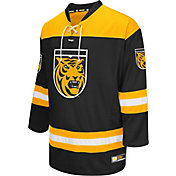 Colosseum Athletics Men's Colorado College Tigers Black Open Net Hockey Jersey