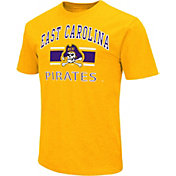 Colosseum Men's East Carolina Pirates Gold Dual-Blend T-Shirt