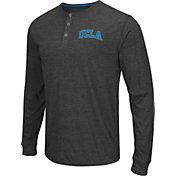 Colosseum Athletics Men's UCLA Bruins Charcoal Long Sleeve Henley T-Shirt