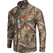 Colosseum Athletics Men's Clemson Tigers Camo Decoy Quarter-Zip Wind Shirt