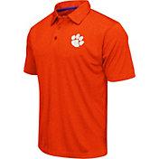 Colosseum Athletics Men's Clemson Tigers Orange Heathered Performance Polo