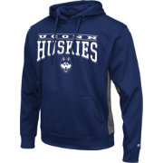 Colosseum Athletics Men's UConn Huskies Blue Defend Pullover Fleece Hoodie