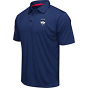 Colosseum Athletics Men's Connecticut Huskies Blue Heathered Performance Polo