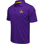 Colosseum Athletics Men's East Carolina Pirates Purple Heathered Performance Polo