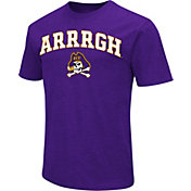 Colosseum Men's East Carolina Pirates Purple Team Slogan T-Shirt