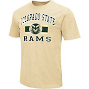 Colosseum Men's Colorado State Rams Gold Dual-Blend T-Shirt