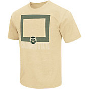 Colosseum Athletics Men's Colorado State Rams Gold State of the Union T-Shirt