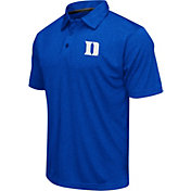 Colosseum Athletics Men's Duke Blue Devils Duke Blue Heathered Performance Polo