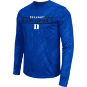 Colosseum Athletics Men's Duke Blue Devils Duke Blue Sleet Long Sleeve Performance Shirt