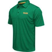 Colosseum Men's Florida A&M Rattlers Green Heathered Performance Polo