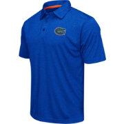Colosseum Men's Florida Gators Blue Heathered Performance Polo