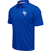 Colosseum Men's Air Force Falcons Blue Heathered Performance Polo